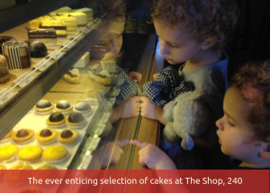 The ever enticing selection of cakes at The Shop, 240
